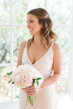 Rose and peony wedding bouquet: Photography: Anna Delores Photography - annadelores.com   Read More on SMP: http://www.stylemepretty.com/california-weddings/santa-barbara/2017/03/02//