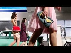 PRADA SS12 takes wheels & heels to the runway, joining top-end fashion brands who continue to reference street style & pop culture in their collections & campaigns. This retro-inspired video flashes bejewelled babes, flame adorned accessories, 50's gas-guzzlers, & a soundtrack that flips-the-dial, angling to be 'all things to all people' ….. at the gas station!