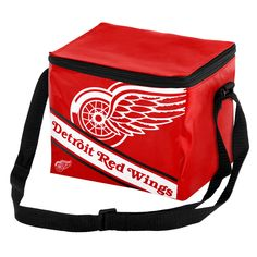 Forever Collectibles Detroit Red Wings Logo Stripe 6pk Cooler