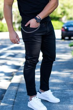 Black On Black With Sneakers Men's Outfit | Royal Fashionist