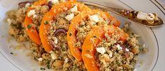 Quinoasalade met pompoen, kikkererwten en rode ui ♥ Foodness - good food, top products, great health