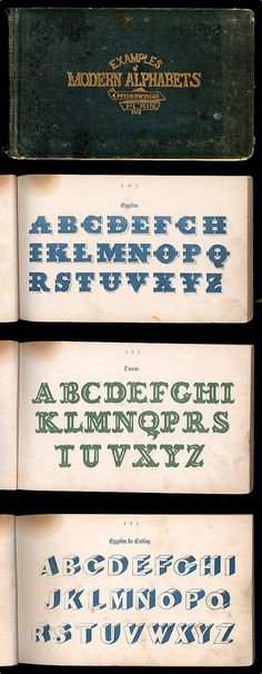 A Book of Modern Alphabets, c. 1864 |  via: made-in-england.org