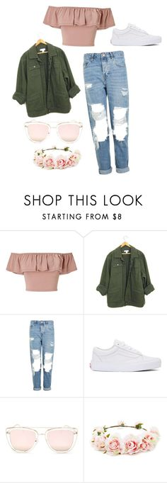 """Kim Seokjin Inspired Picnic Outfit"" by eva-salad on Polyvore featuring Miss Selfridge, Topshop, Vans, Quay and Forever 21"