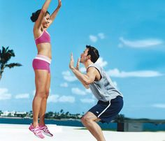 Team up to slim down: Couples workouts. Helps you to keep working out, and gets that lazy SO off their butts, as well :P