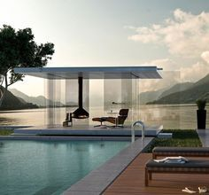Pool. Yes. Love the pool house!