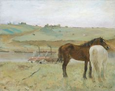 "one of our favorite paintings - at the National Gallery of Art in DC, by Degas ""Horses in a Meadow"""