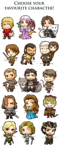 Game of Thrones Sticker set of 10  Choose your by dreamchaserart, $10.00