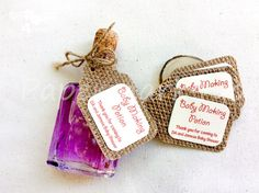 Items similar to 25 Burlap Baby Making Potion_ Burlap Gift Tag_ Customizable Tag_Burlap Hangtag_ Your Text by Request on Etsy Burlap Baby, Custom Tags, Text Color, Baby Shower Decorations, Gift Tags, Card Stock, Bbq, Place Card Holders, How To Make