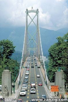 Lions Gate Bridge in Vancouver, B. Vancouver British Columbia, North Vancouver, Visit Vancouver, Great Places, Places To Go, Beautiful Places, Canada Eh, Western Canada, Covered Bridges