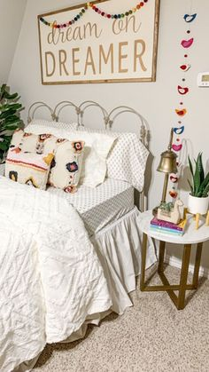 Lana Modern Side Table. Via Whimsy Girl Design #sidetable #nightstand #bedroom #modern #fauxmarble