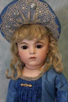 "19"" Antique French Bisque Bru Jne 7 Bisque Doll Fabulous Costume Bru Shoes c1883"