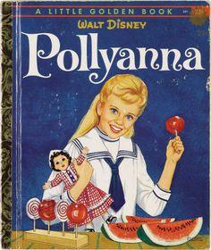 Illustration:Books, KAREN HEDSTROM (American 20th Century) . Walt Disney's  Pollyanna, Little Golden Book cover illustration, 1960 .