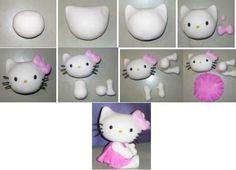 .how to do hello kitty, come fare una kitty, como hacer hello kitty