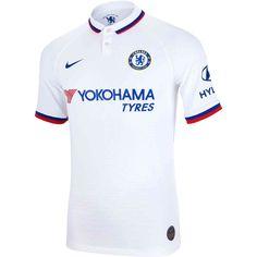 Nike Chelsea Away Match Jersey - SoccerPro Chelsea Football, Chelsea Fc, Camisa Do Chelsea, Sport Shirt Design, Training Tops, Football Kits, Soccer Cleats, Football Jerseys, Sports Shirts