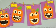Silly Jacks Halloween Craftivity Art Project Bulletin Board display