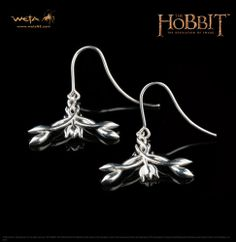 Pendientes Élficos en plata de ley. El Hobbit: la desolación de Smaug. Weta Collectibles