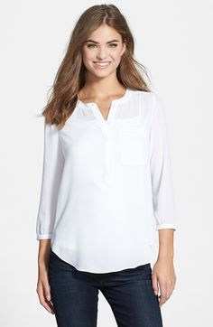 NYDJ+Henley+Blouse - maybe in another color?