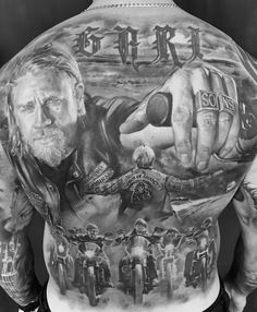 unique Tattoo Trends - Sons of anarchy Very cool Kunst Tattoos, 3d Tattoos, Skull Tattoos, Sexy Tattoos, Body Art Tattoos, Tattoos For Guys, Sleeve Tattoos, Tattoo Art, Creative Tattoos