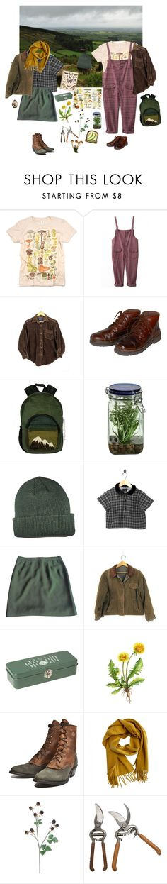 """""""Horticulture majors"""" by steepingtheweather ❤ liked on Polyvore featuring Rockport, Alöe, Motel, Barbara Bui, Dot & Bo, Hermès and Jayson Home"""