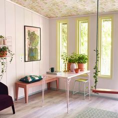 Color of the Year 2016 - PINK Photo: / fargerike.no - Color: Perle Living Room Designs, Living Spaces, Wallpaper Wall, Floor Ceiling, Simple Living Room, Pink Photo, Decoration Design, Color Of The Year, Rum
