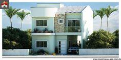 Planta de Sobrado - 3 Quartos - 116.88m² - Monte Sua Casa