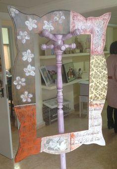 Marco finalizado espejo vintage rústico