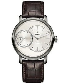 Rado Men's Swiss Automatic Chronograph DiaMaster Grande Seconde Brown Leather…