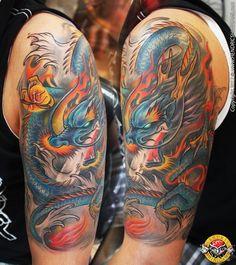 Blue dragon tattoo by bengkel168.deviantart.com on @deviantART