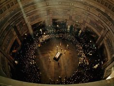 Famous Moments In History, From A Different Angle: 1963 - JFK's funeral in the Capitol Building.