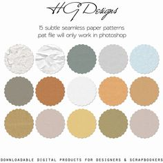 This is a set of 15 seamless subtle paper patterns in one . This file will ONLY work in Photoshop. All seamless patterns are high quality and s. Textures Patterns, Color Patterns, Design Tutorials, Design Projects, Freebies, Pattern Paper, Paper Patterns, Subtle Textures, Look Vintage