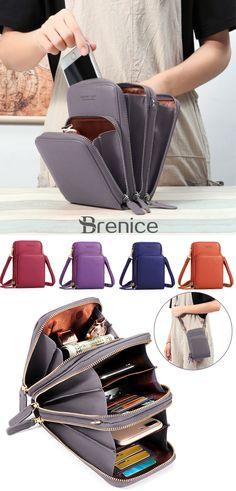 f493f7f32810 pierre loues Women Solid PU leather Clutch Bag Card Bag Phone Bag Crossbody  Bag is designer