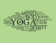Yoga Word Collage - 8x10 Art Print. $12.99, via Etsy.