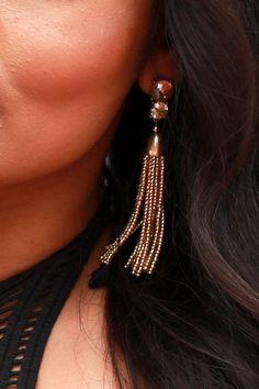 Turks and Tassels Earrings in Gold