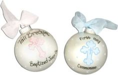 Personalized Baptism Ornament $15.99