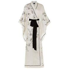 Carine Gilson Long Silk Kimono Robe available to buy at Harrods. Luxury shopping with Free Returns on UK orders. Silk Robe Long, Silk Kimono Robe, Silk Bathrobe, Kimono Fashion, Fashion Outfits, Style Kimono, Kimono Dressing Gown, Modern Kimono, Long Gown Dress