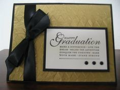 Graduation-Gold Waffle Paper by stampindoe - Cards and Paper Crafts at Splitcoaststampers