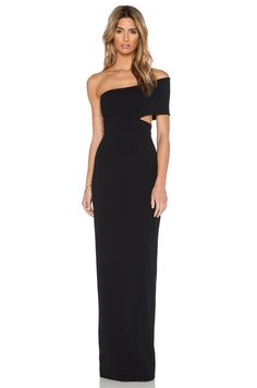 Black Tie Formal Gown -Off the Shoulder - Cruise Wear SOLACE London Piano Maxi Dress in Black | REVOLVE