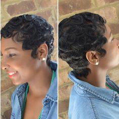 Dry waves, finger waves, short hairstyles | Black Hairstyles | Hair ...