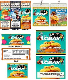 the lorax party invitations