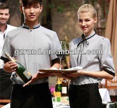 Guangzhou customized restaurant waiter uniform $5~$7.5