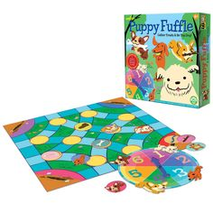 Unleash your inner playful puppy with eeBoo's new board game, Puppy Fuffle. Relay Games For Kids, Board Games For Two, Camping Games Kids, Games For Girls, Games Box, Dice Games, Card Games, Puzzle Games, Sequence Game