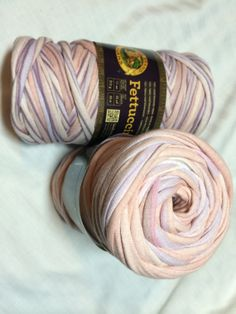 Lion Brand Fettuccini Yarn  super bulky Repurposed by yarn2spin, $9.00