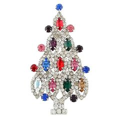 EVER FAITH Christmas Tree Silver-Tone Brooch with Multicolor Austrian Crystal http://www.amazon.com/dp/B00AZVYVQS/ref=cm_sw_r_pi_dp_Lya1vb14C73E3
