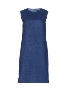 """Exude LA cool in The Row's beautifully simple denim sheath dress. Wear this minimal design layered now and on its own when the temperature rises."""