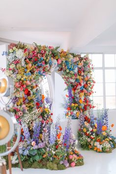 A Room With A VIEW Floral Arch created by Veevers Carter. Image Courtesy of Holly Clark Photography. Wedding Colors, Floral Wedding, Wedding Flowers, Flower Installation, Floral Arch, Flower Wall, Event Decor, Event Design, Floral Arrangements