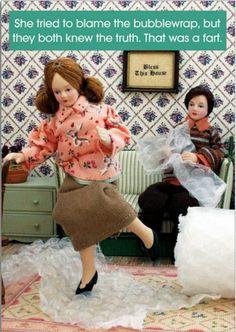 Bubble Wrap Humor: Lmao! Bubblewrap Fart Card