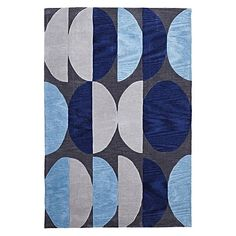 Kim Blue Modern Rug by Rug Republic