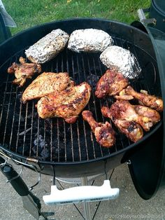 Hubby's Freezer to Grill Chicken Recipe - just two ingredients even! From RobynsOnlineWorld...