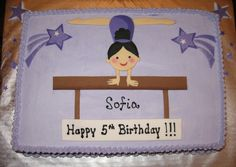 Gymnastics Cake cakepins.com