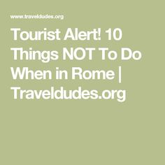 Top Attractions In The Rome Neighborhood Of Testaccio Rome - 10 important phrases to learn for your trip to rome